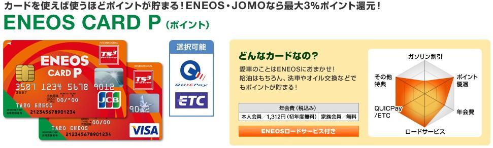 エネオスカード ポイントタイプ ENEOS CARD P 画像