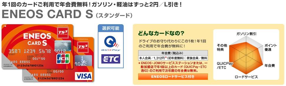 エネオスカード スタンダードタイプ ENEOS CARD S画像